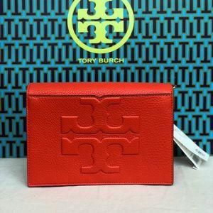 Tory Burch Bombe T combo crossbody bag poppy Red